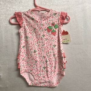 Carter's Strawberry Patterned Onesie-3 Months